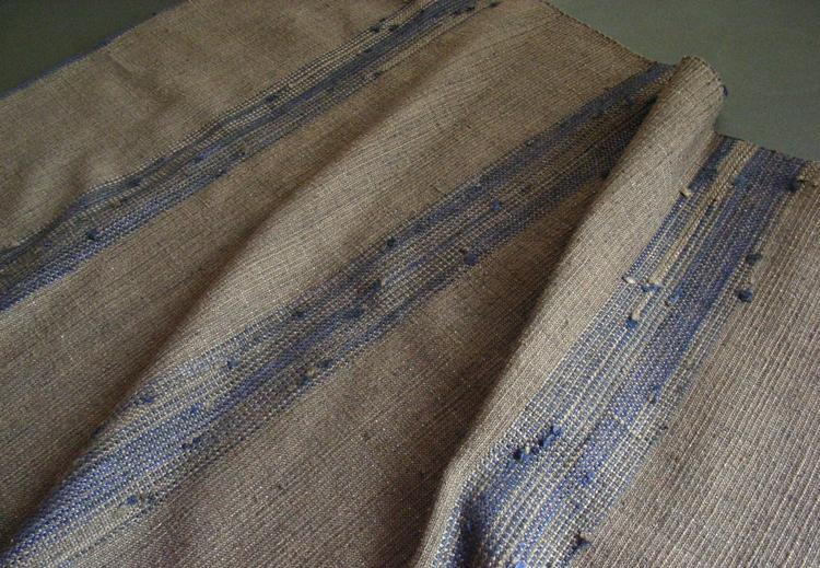 藍つなぎ糸ショール詳細用