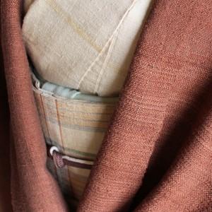 赤茶斜子織ショール