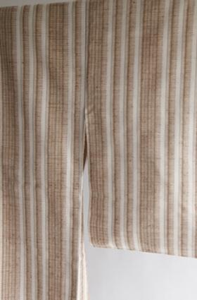刺子織緯絣着物「早春の光」