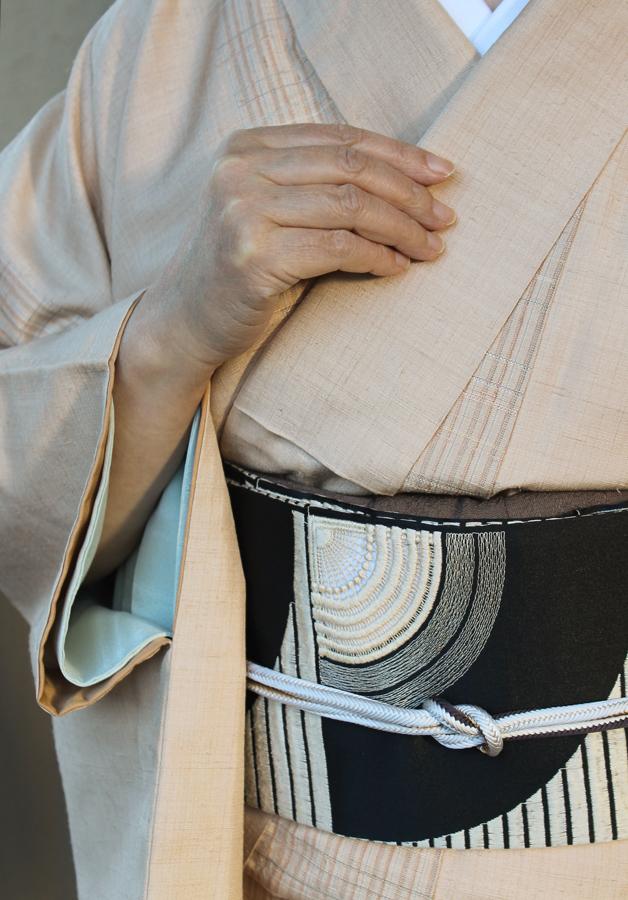 桜染めすくい織り着物