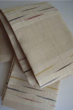 綾織緯絣半幅帯
